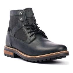 Men's Crevo Reginald Boot Black Leather/Canvas