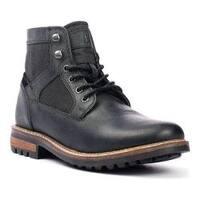 Men's Crevo Reginald Boot Black Leather/Canvas