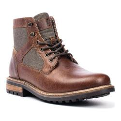 Men's Crevo Reginald Boot Chestnut Brown Leather/Canvas