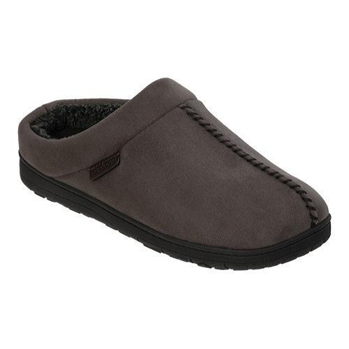 1959f341753fb5 Shop Men s Dearfoams Microsuede Terry Clog Slipper with Memory Foam  Pavement - Free Shipping On Orders Over  45 - Overstock - 12454278