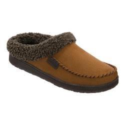 Men's Dearfoams Berber Cuff Clog Slipper with Memory Foam Chestnut
