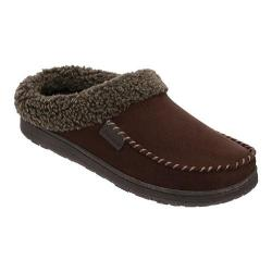 Men's Dearfoams Berber Cuff Clog Slipper with Memory Foam Coffee