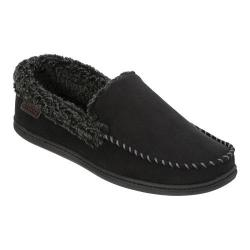 Men's Dearfoams Microsuede Moc Slipper with Memory Foam Black