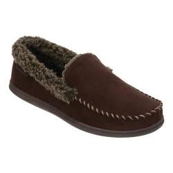 Men's Dearfoams Microsuede Moc Slipper with Memory Foam Coffee