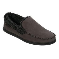Men's Dearfoams Microsuede Moc Slipper with Memory Foam Pavement