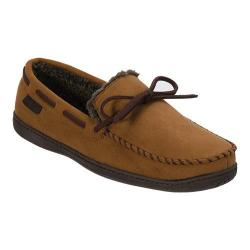 Men's Dearfoams Microsuede Trapper Moc Slipper with Memory Foam Chestnut