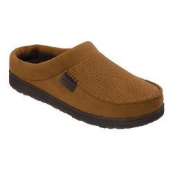 Men's Dearfoams Perforated Microsuede Clog with Memory Foam Chestnut