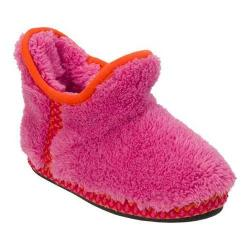 Girls' Dearfoams Pile Bootie Slipper with Fairisle Trim Ibis Rose