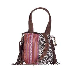Women's San Diego Hat Company Ethnic Print Crossbody Tote BSB1545 Red