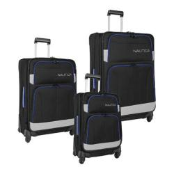 Nautica Shipline 3-Piece Luggage Set Black/Grey/Cobalt