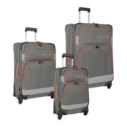 Nautica Shipline 3-Piece Luggage Set Charcoal Grey/Orange