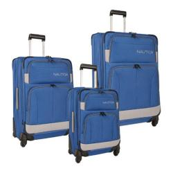 Nautica Shipline 3-Piece Luggage Set True Blue/Charcoal Grey