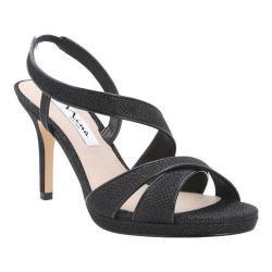 Women's Nina Brilyn Asymmetrical Platform Sandal Noir/Black Patent Dreamland/Metallic Foil