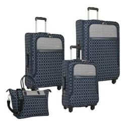 Women's Nine West Corra 4-Piece Luggage Set Navy/Grey