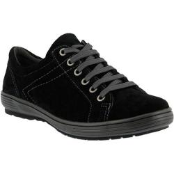 Women's Spring Step Anton Lace Up Black Suede