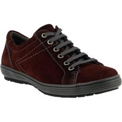 Women's Spring Step Anton Lace Up Bordeaux Suede