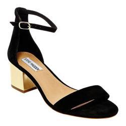 Women's Steve Madden Irenee Sandal Black Suede/Gold