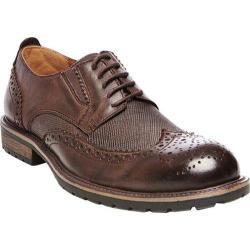 Men's Steve Madden Sparx Wing Tip Oxford Brown Leather