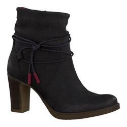 Women's Tamaris Cresta Ankle Boot Black Leather