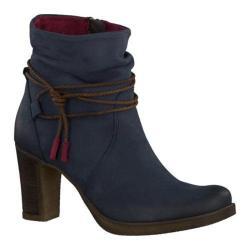 Women's Tamaris Cresta Ankle Boot Navy Leather