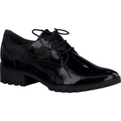 Women's Tamaris Phanie Oxford Black Patent Synthetic