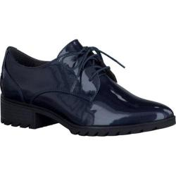 Women's Tamaris Phanie Oxford Navy Patent Synthetic