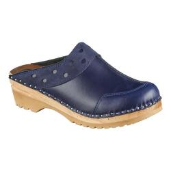 Women's Troentorp Bastad Clogs Durer Dark Blue Suede Mix