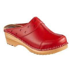 Women's Troentorp Bastad Clogs Durer Red Leather