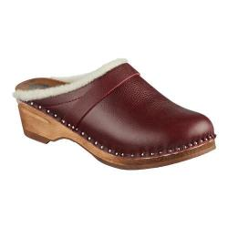 Women's Troentorp Bastad Clogs Munich Claret Leather
