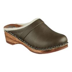 Women's Troentorp Bastad Clogs Munich Field Grey Leather