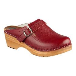 Women's Troentorp Bastad Clogs Raphael Aztec Red Leather