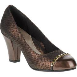 Women's Soft Style Cailna Pump Bronze Snake/Mid Brown Pearlized Patent
