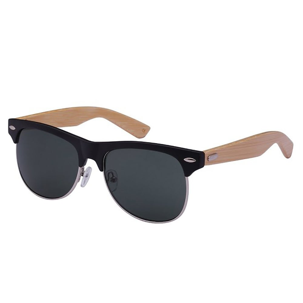 Mechaly Classic Clubmaster Style Bamboo Unisex Sunglasses