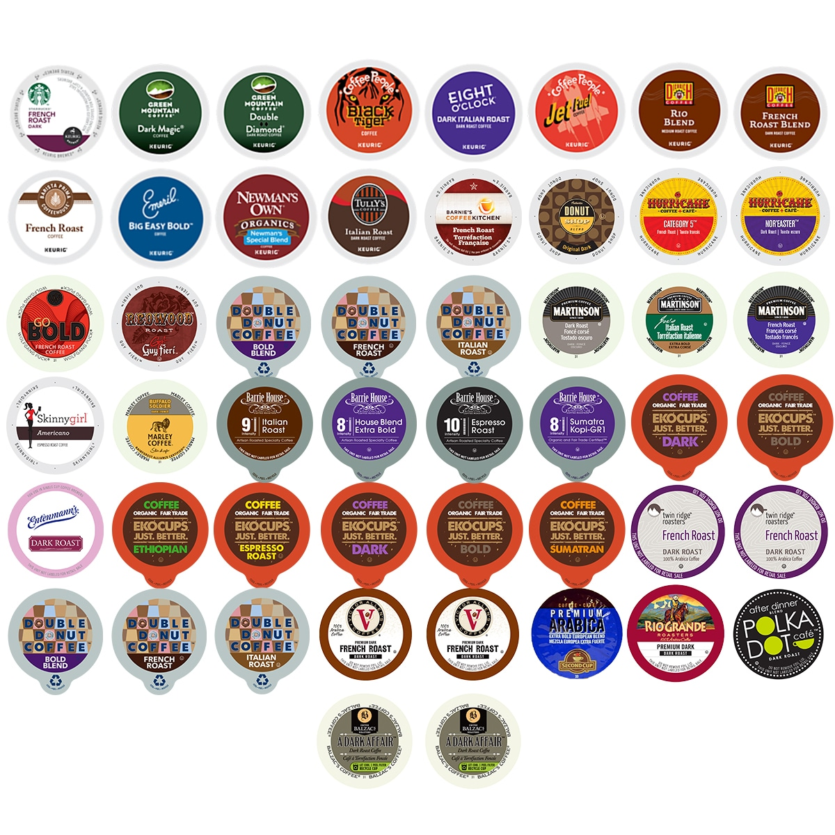 Bold Coffee Single-serve Cups 50-count Variety Pack Sampler for Keurig K-Cup Brewer