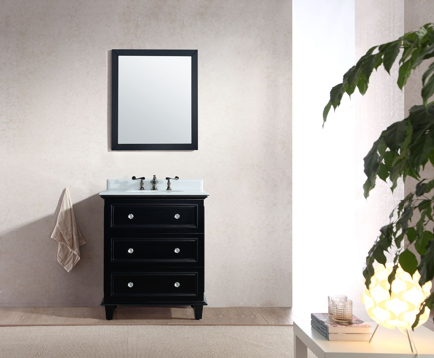 Luna Collection 30-inch Vanity with Marble Countertop
