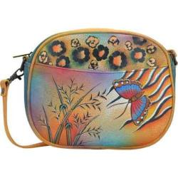 Women's ANNA by Anuschka Hand Painted Multi-Compartment Convertible 8042 Jungle Butterfly