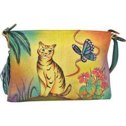 Women's ANNA by Anuschka Hand Painted Shoulder Bag 8043 Cat