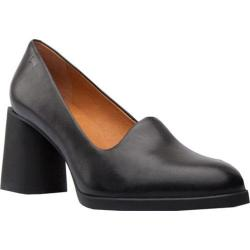 Women's Camper Lea Pump Black Smooth Leather