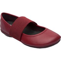 Women's Camper Right Nina Mary Jane Dark Red Smooth Leather
