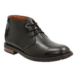 Men's Clarks Un.Elott Mid Chukka Boot Black Cow Full Grain Leather