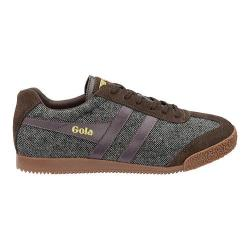 Men's Gola Harrier Woven Sneaker Dark Brown/Burgundy Textile