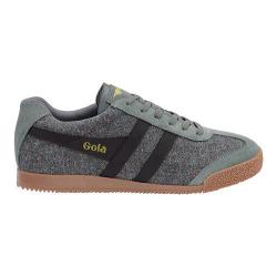 Men's Gola Harrier Woven Sneaker Dark Grey/Black Textile