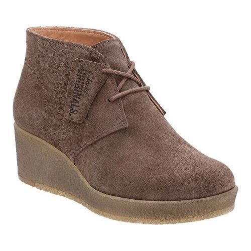 0adb6e378171 Shop Women s Clarks Athie Terra Wedge Bootie Dark Taupe Suede - Free  Shipping Today - Overstock - 12354757