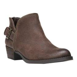 Women's Carlos by Carlos Santana Cayenne Bootie Dark Brown Synthetic Leather