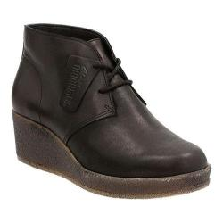 Women's Clarks Athie Terra Wedge Bootie Black Leather