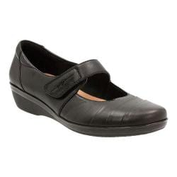 Women's Clarks Everlay Kennon Mary Jane Black Sheep Full Grain Leather