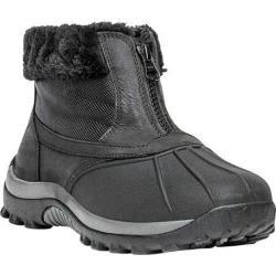 Women's Propet Blizzard Ankle Zip II Boot Black Leather/Nylon