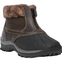 Women's Propet Blizzard Ankle Zip II Boot Brown Leather/Nylon