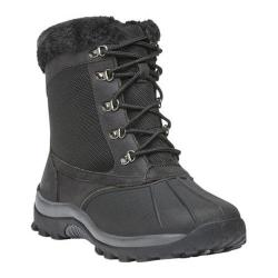 Women's Propet Blizzard Mid Lace II Boot Black Leather/Nylon