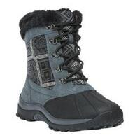 Women's Propet Blizzard Mid Lace II Boot Black/Aztec Knit Leather/Nylon